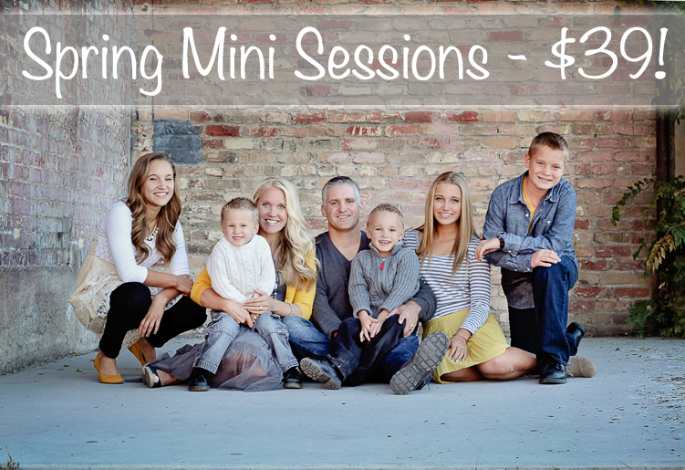 Utah mini family sessions!