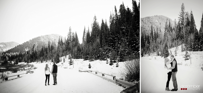 Utah Snowy Engagements Dezember Photography