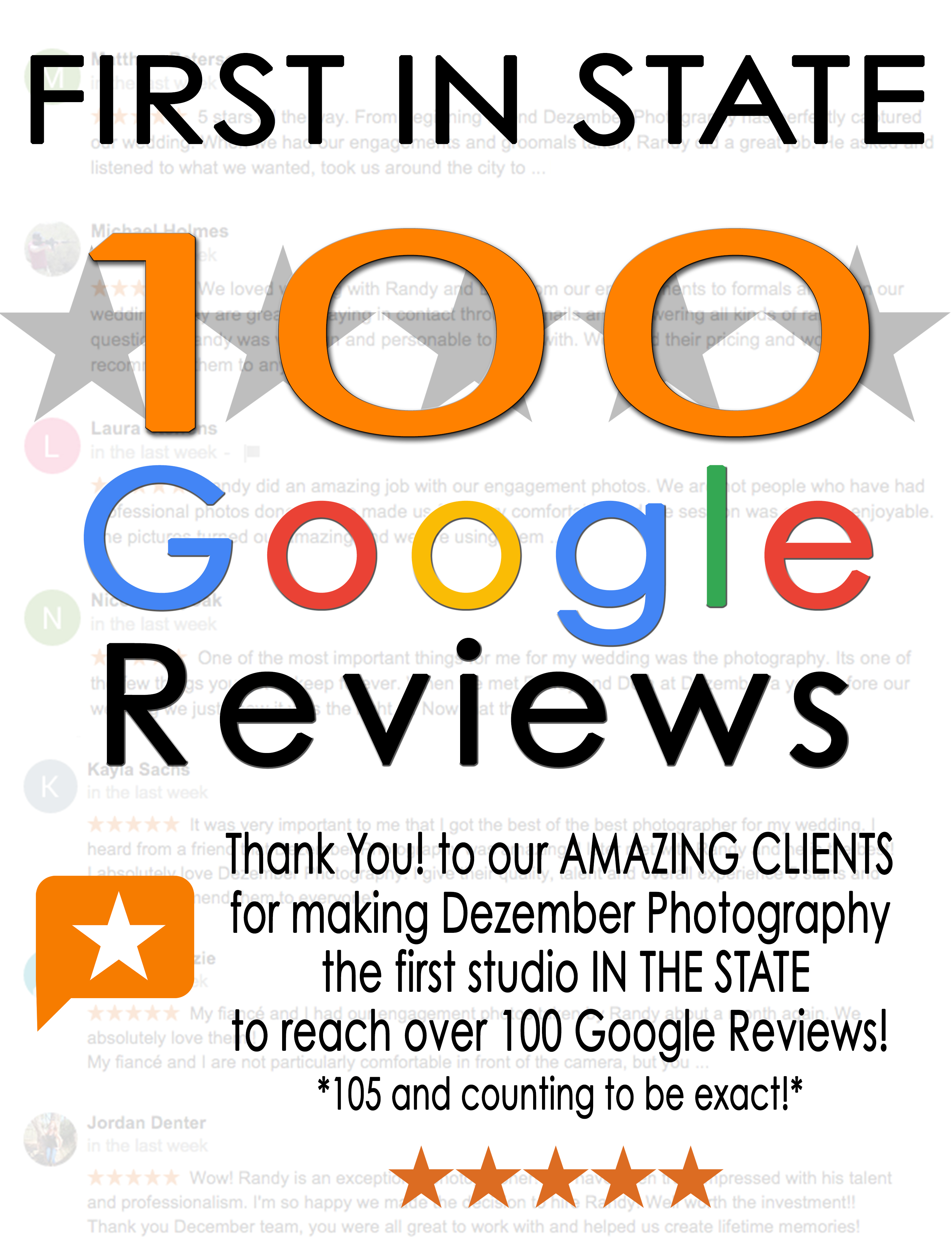 First Studio In State 100 Google Reviews Dezember Photography