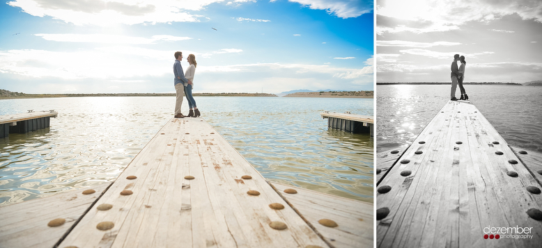 Antelope Island Marina Engagement Photography