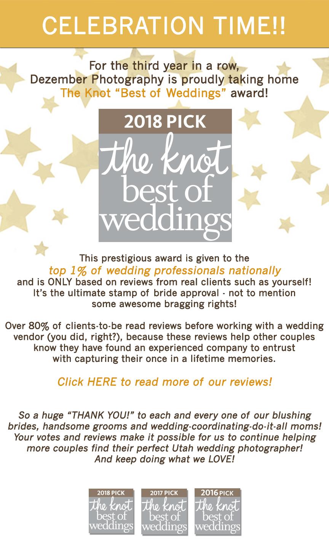 The Knot \'Best of Weddings\' 2018!   Dezember Photography   Utah ...