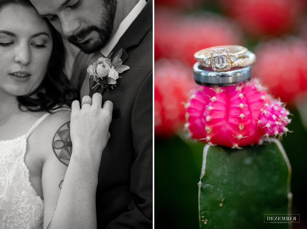 Cacti wedding ring