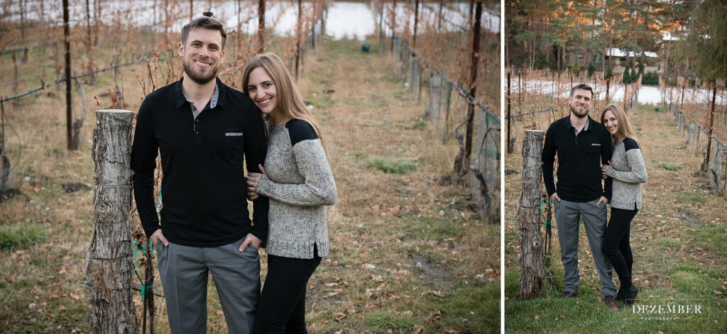 Couple in La Caille vineyard