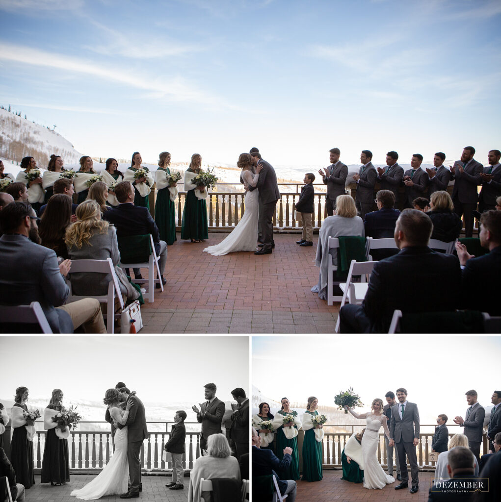 Montage Winter Wedding ceremony on the deck