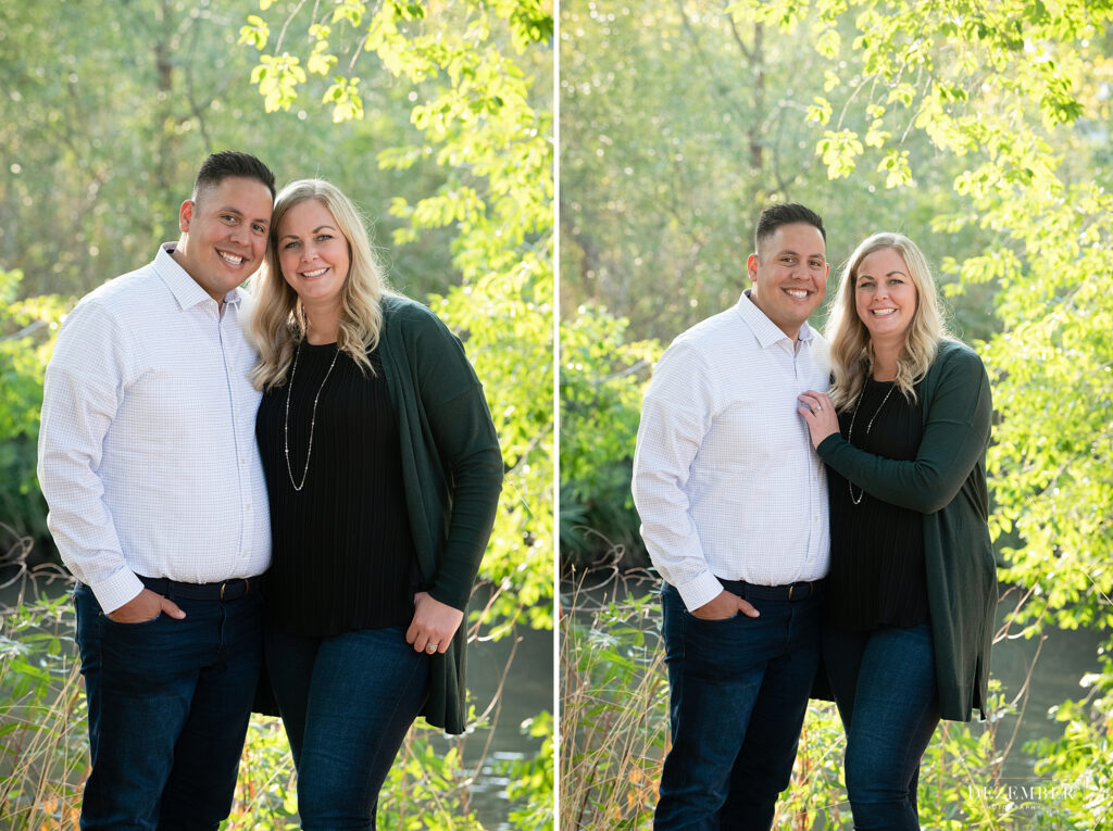 Couple poses at the Jordan River