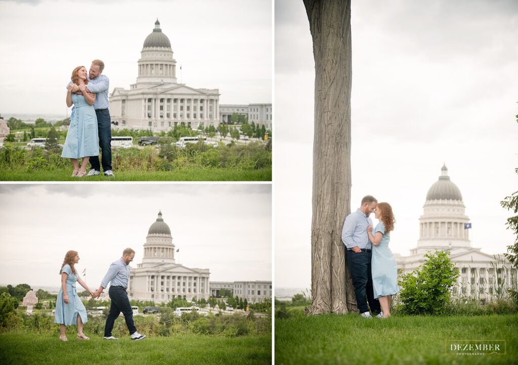 Utah Capitol Engagement photo session