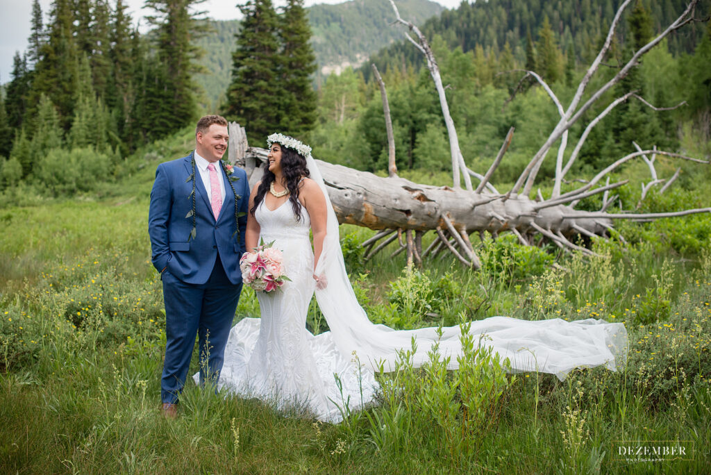 First look session in Big Cottonwood Canyon