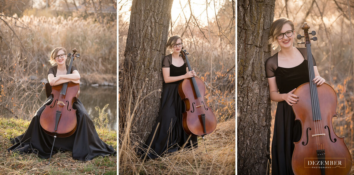 Musician portraits with Evelyn and her cello