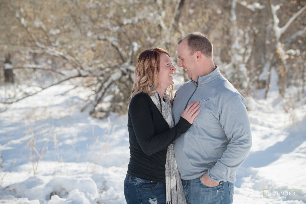 Couples portraits winter