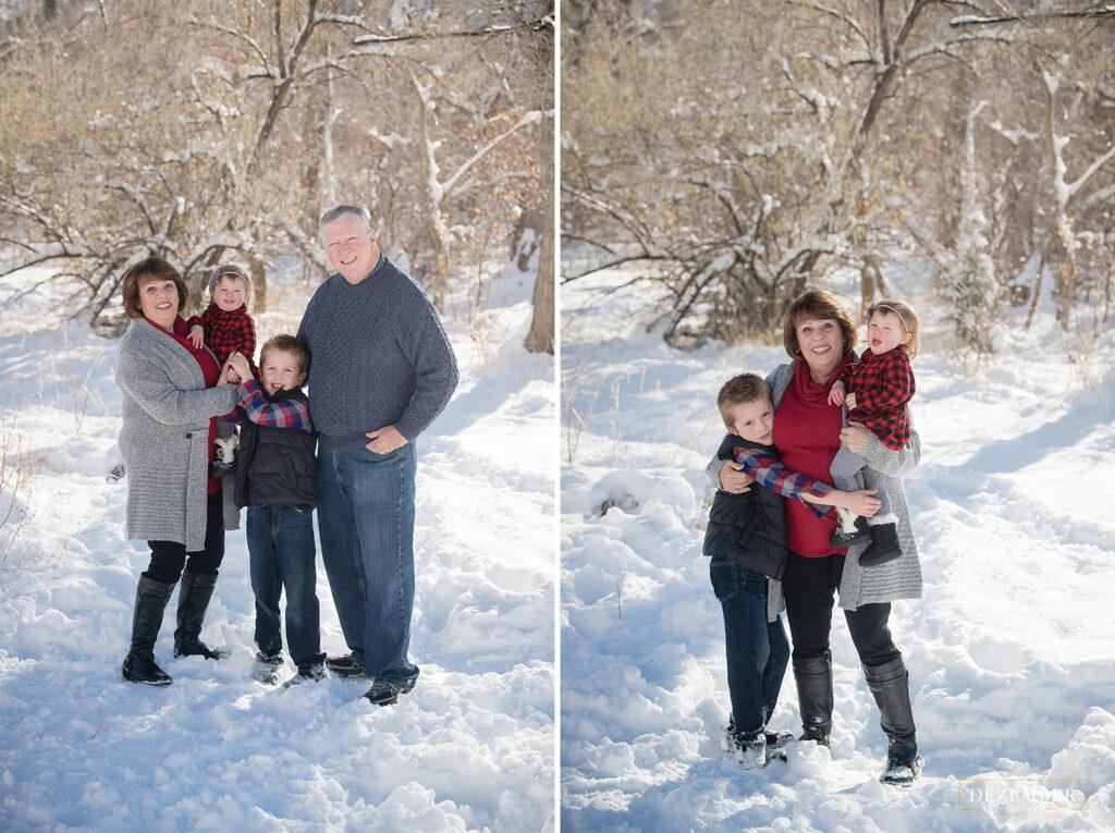 Grandma and grandpa family portraits