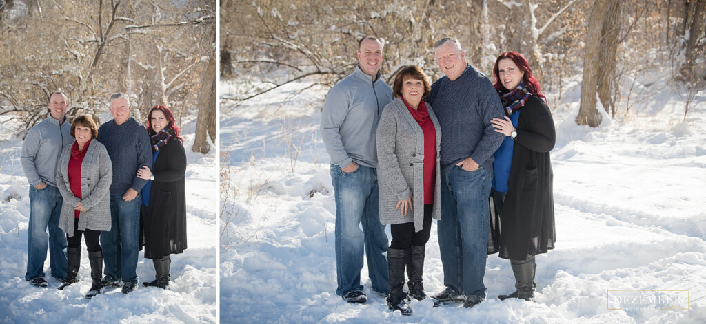 Winter Family portraits with grandparents