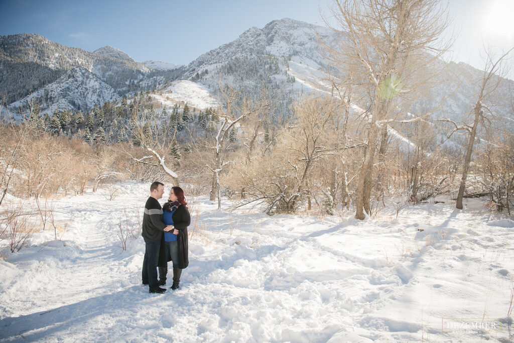 Couples portraits in the snow