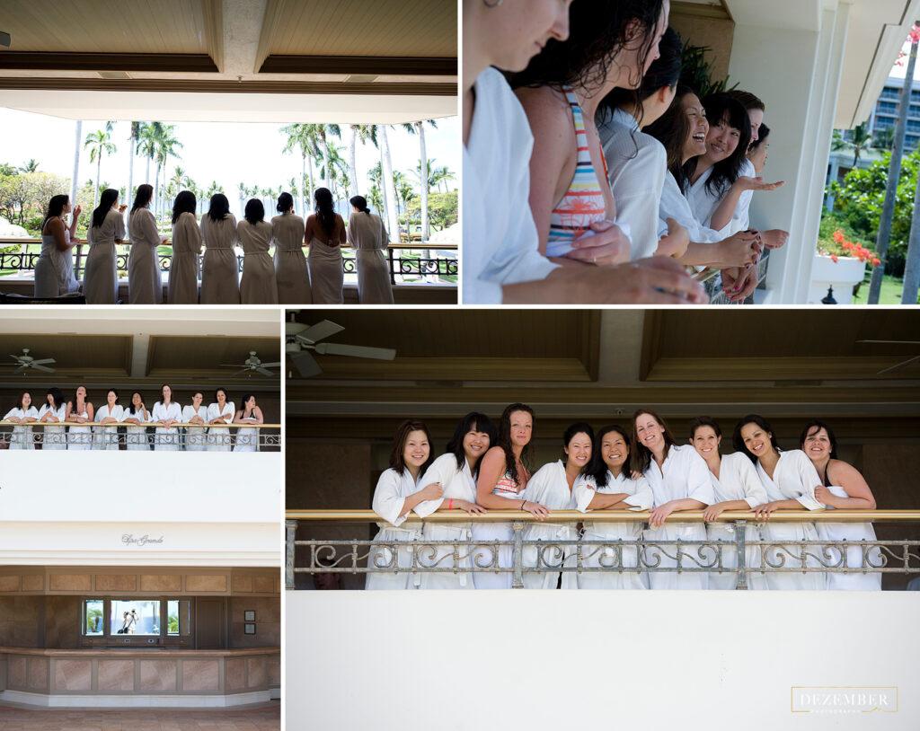 Bridesmaids at the spa