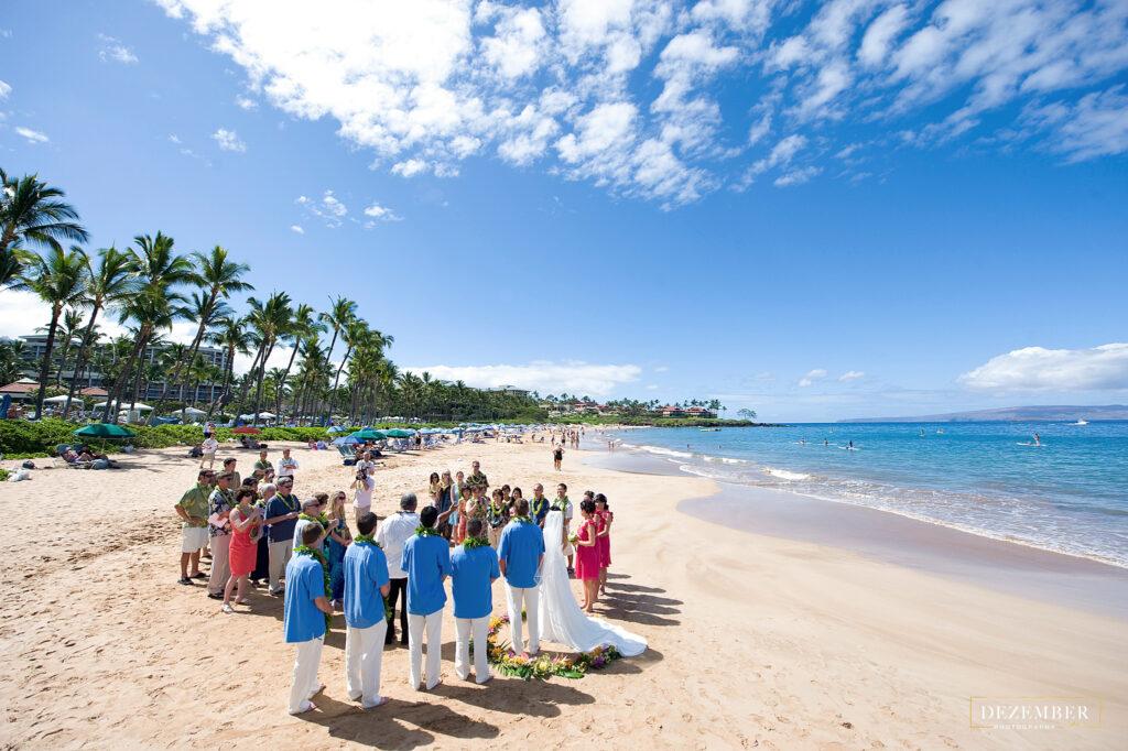 Beach ceremony in Maui