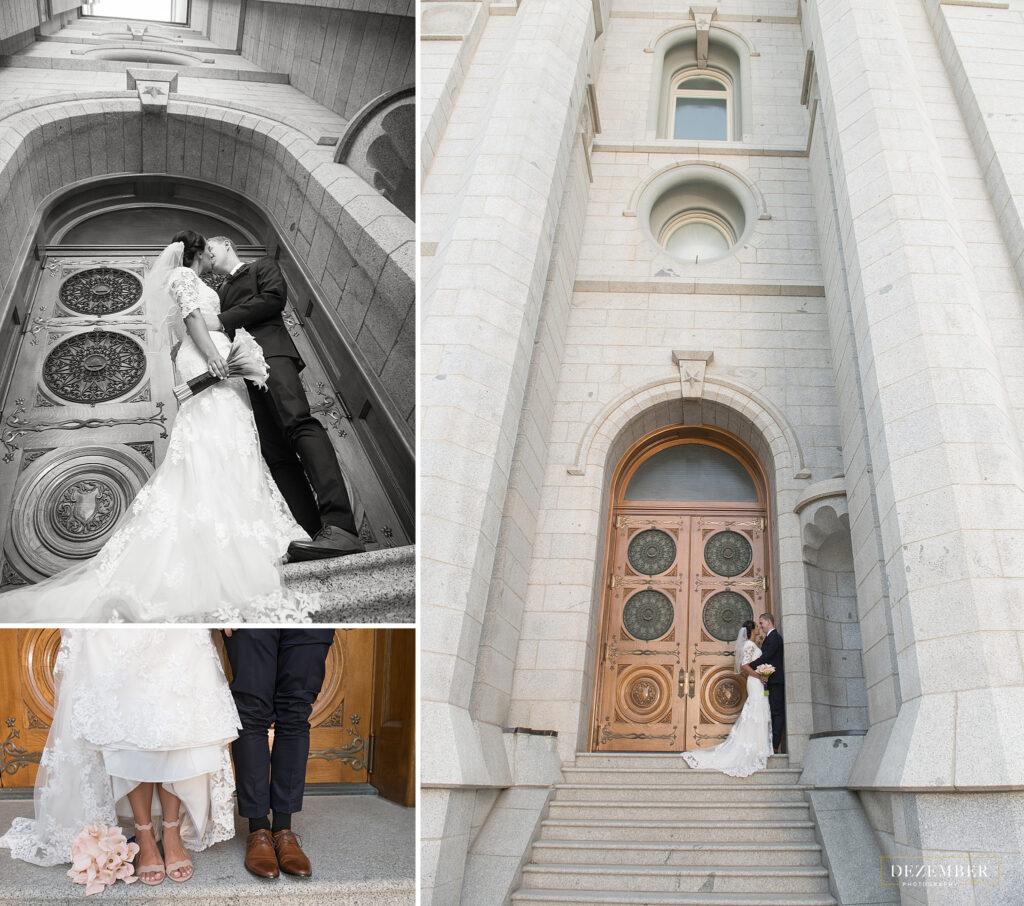 Couple at Salt Lake Temple doors