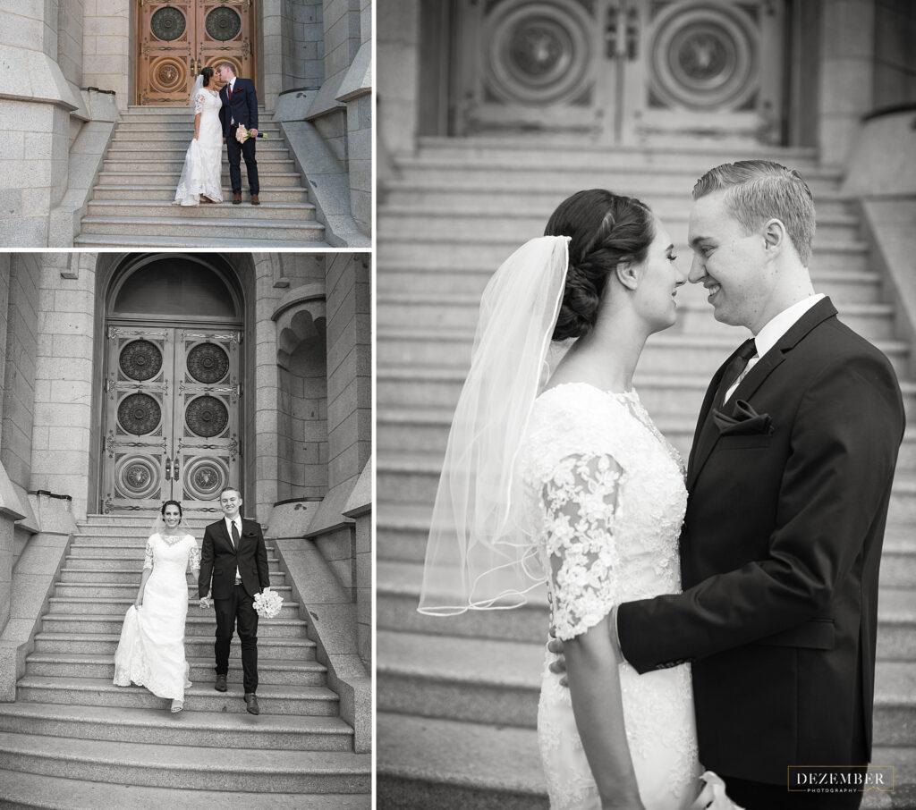 Newlyweds at Salt Lake Temple