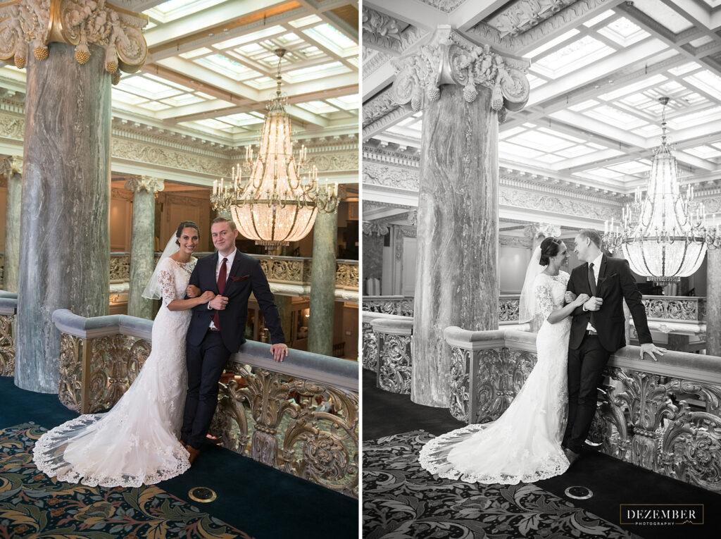 Bride and Groom in Joseph Smith Memorial Building
